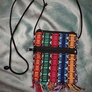 Multi-Colored Woven Purse